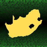 South Africa map on binary Stock Image