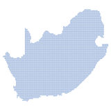 South africa map dots Royalty Free Stock Image
