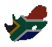 South Africa map flag containers Royalty Free Stock Photos
