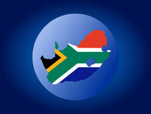 South Africa map flag sphere Stock Images