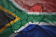South Africa Map Royalty Free Stock Photos