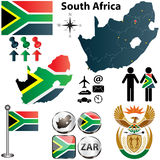 South Africa map with regions stock photo