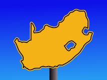 South Africa map sign Stock Photo