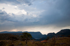 South Africa Mountains in sunset Stock Images