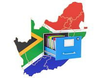 South Africa national database concept, 3D rendering. Isolated on white background Royalty Free Stock Photo