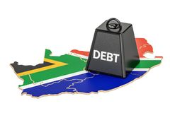 South Africa national debt or budget deficit, financial crisis c. Oncept, 3D Stock Photos