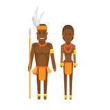 South africa national dress vector illustration