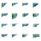 South africa flag, vector illustration on a white background. South africa national flag, vector illustration on a white background royalty free illustration