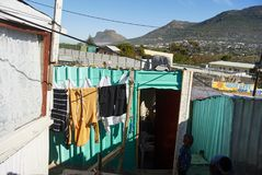 Imizamo Yethu Township in south Africa royalty free stock images