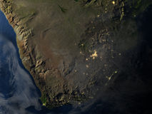 South Africa at night on planet Earth Royalty Free Stock Photos