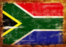 South Africa old painted flag Stock Photography
