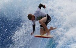 Waveboard world championship in mallorca, south african rider Stock Photos