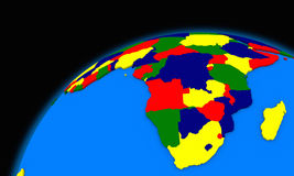 South Africa on planet Earth political map Royalty Free Stock Photo