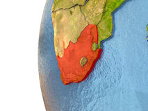South Africa in red Royalty Free Stock Images