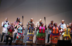 South Africa's Soweto choir singing and dancing Royalty Free Stock Photography