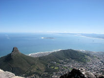 South Africa shore. Amazing sightseeing over south Africa Stock Image