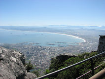 South Africa shore. Amazing sightseeing over south Africa Royalty Free Stock Photos