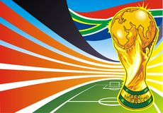 South africa soccer theme. As a colorful background Royalty Free Stock Photography
