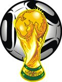 South africa soccer theme Stock Photography