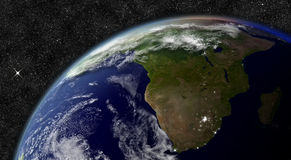 South Africa from space Royalty Free Stock Photos