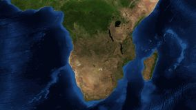 South Africa from space - zoom. South Africa, officially the Republic of South Africa, is a country located at the southern tip of Africa. It has 2,798 vector illustration