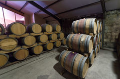 South Africa, Stellenbosch, Barrel cellar Stock Images