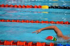 South africa swimmer. In competition Royalty Free Stock Photography