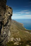 South Africa Tafelberg View Mountains. High sea ocean breeze stone nature landscape Royalty Free Stock Photography