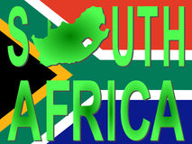 South Africa text with map Stock Photos