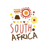 South Africa tourism logo template hand drawn vector Illustration Stock Photos