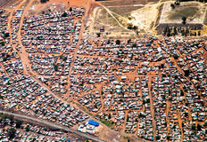South Africa Township. Aerial view of a township in Johannesburg in South Africa stock photography