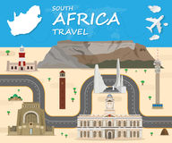 South africa travel background Landmark Global Travel And Journey. Infographic Vector Design Template. illustration Stock Photography