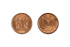 South Africa Two Cent Coin Stock Photos