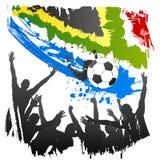 South Africa vektorworldcup royaltyfri illustrationer