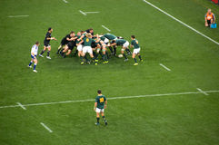 South Africa vs the All Blacks. JOHANNESBURG, SOUTH AFRICA - AUGUST 21: The South African National Rugby team defends the New Zealand All Blacks on August 21 Royalty Free Stock Image