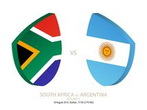 South Africa vs Argentina, 2018 Rugby Championship, round 1. South Africa vs Argentina, 2018 Rugby Championship, round 1 stock illustration