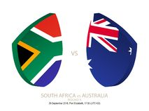 South Africa vs Australia, 2018 Rugby Championship, round 5. South Africa vs Australia, 2018 Rugby Championship, round 5 stock illustration
