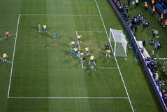 South Africa vs Brazil - FIFA Confed Cup stock photography
