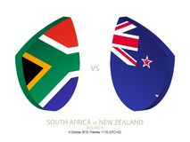 South Africa vs New Zealand, 2018 Rugby Championship, round 6. South Africa vs New Zealand, 2018 Rugby Championship, round 6 stock illustration