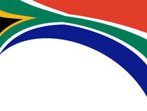 South africa wave. South africa flag wave on white background. Abstract illustration Royalty Free Stock Images