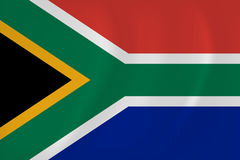 South Africa waving flag Royalty Free Stock Photo