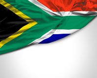 South Africa waving flag on white background.  royalty free stock image