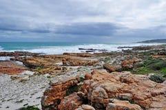 South Africa, Western Cape, Cape Peninsula, Cape of Good Hope, beach, ocean. South Africa, 20/09/2009: the rocky beach at the Cape of Good Hope, rocky headland Stock Photo