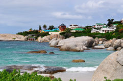 South Africa, Western Cape, Cape Peninsula, penguin, penguins, Boulders Beach, Simon`s Town, wildlife reserve, climate change Royalty Free Stock Photos
