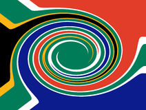 South africa whirl. With special effects. Abstract illustration Stock Image