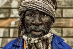 A South Africa worker. A old black South Africa worker look to the camera Stock Image