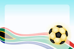 South Africa World Cup. South Africa 2010 - Football world cup. With golden soccer ball with room for your text. Vector illustration saved as EPS AI8 pending royalty free illustration