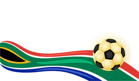 South Africa World Cup. South Africa 2010 - Football world cup. With golden soccer ball with room for your text. Vector illustration saved as EPS AI8 is now Stock Images