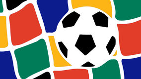 South Africa World Cup 2010. Symbolic illustration with a ball and net of a goal for the South Africa World Cup 2010 stock illustration