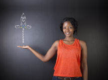 South African or African American woman teacher achieve success in education Royalty Free Stock Photos